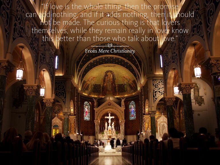 Mere Christianity wedding ceremony reading