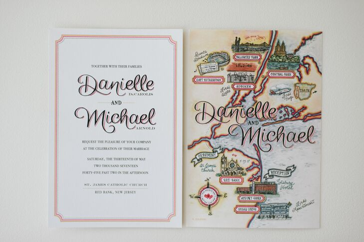 Whimsical Invitation with Personalized Illustrated Map