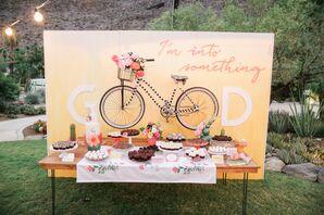 Playful, Bike-Themed Dessert Table