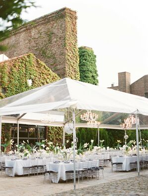 Tented Reception at The Foundry in Long Island City, New York