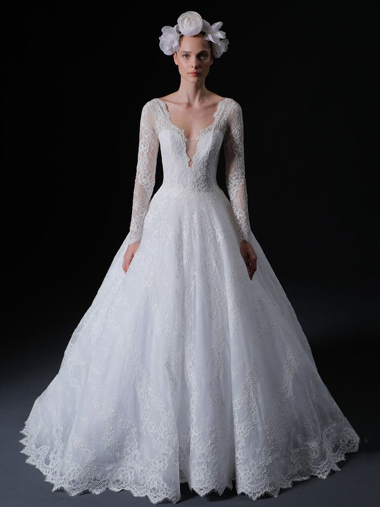 Isabelle Armstrong Spring 2020 Bridal Collection lace A-line wedding dress