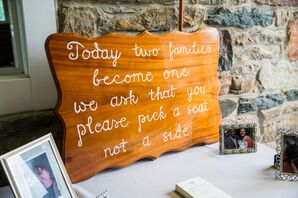 Wooden Ceremony Seating Sign