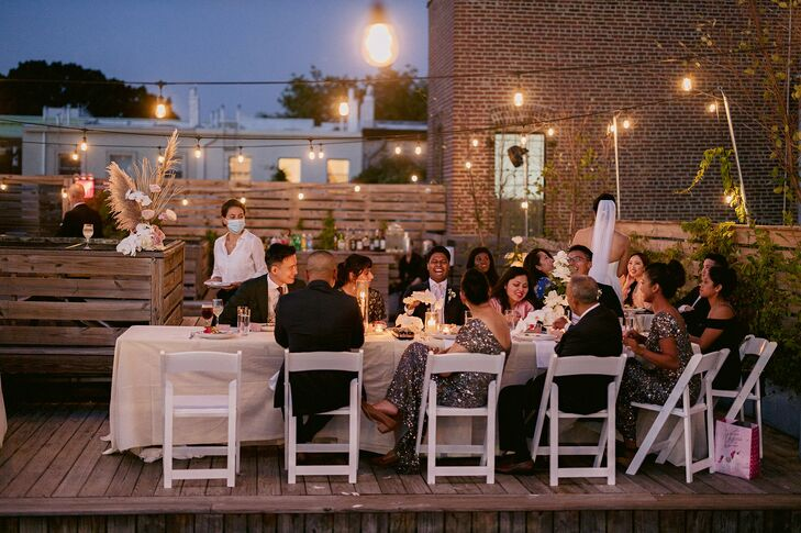 Sunset Dinner Reception at Dobin St. in Brooklyn, New York