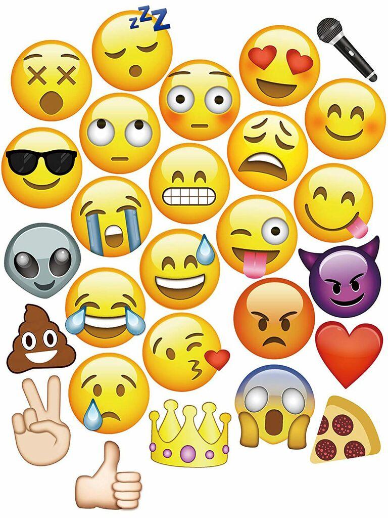 Emoji wedding photo booth props