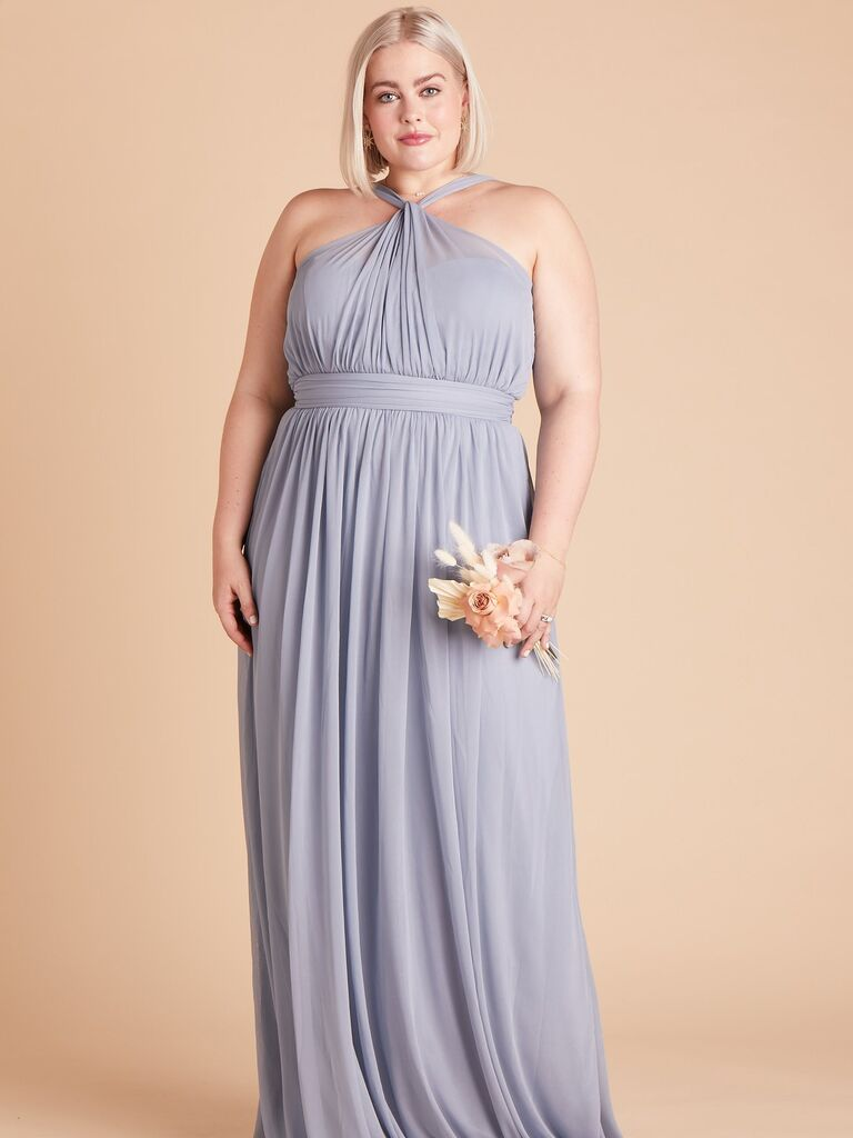 Dusty blue bridesmaid dress under $100