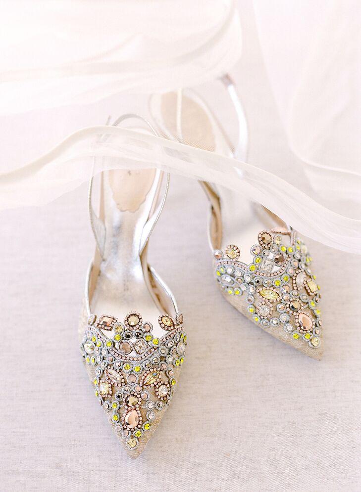Glam Multicolor Gemstone Rene Caovilla Heels