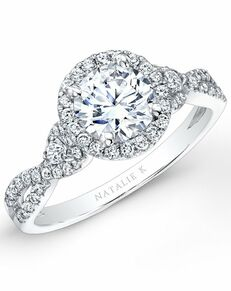 Natalie K Round Cut Engagement Ring