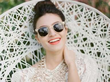 bride with sunglasses