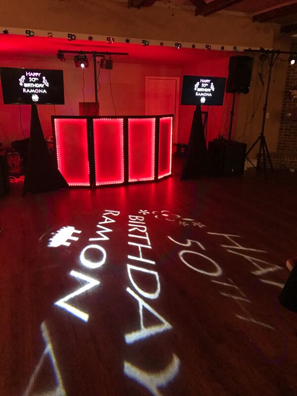 Custom Monogram Lighting Projection
