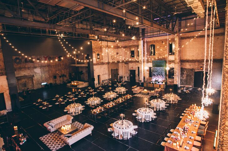 """""""I hosted a charity event at Aria and fell in love with the space,"""" Falen says of her choice to book her reception venue. """"Plus, I really liked that I could transform it into anything and have both the ceremony and reception in the same place."""""""