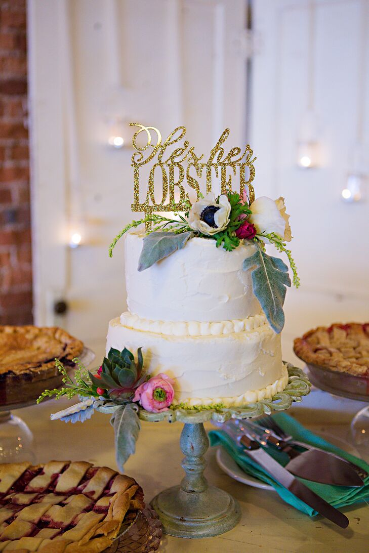 Whimsical Two-Tier Buttercream Cake