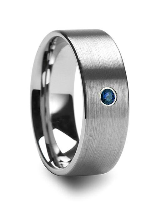 Mens Tungsten Wedding Bands T5421-BFBD Tungsten Wedding Ring