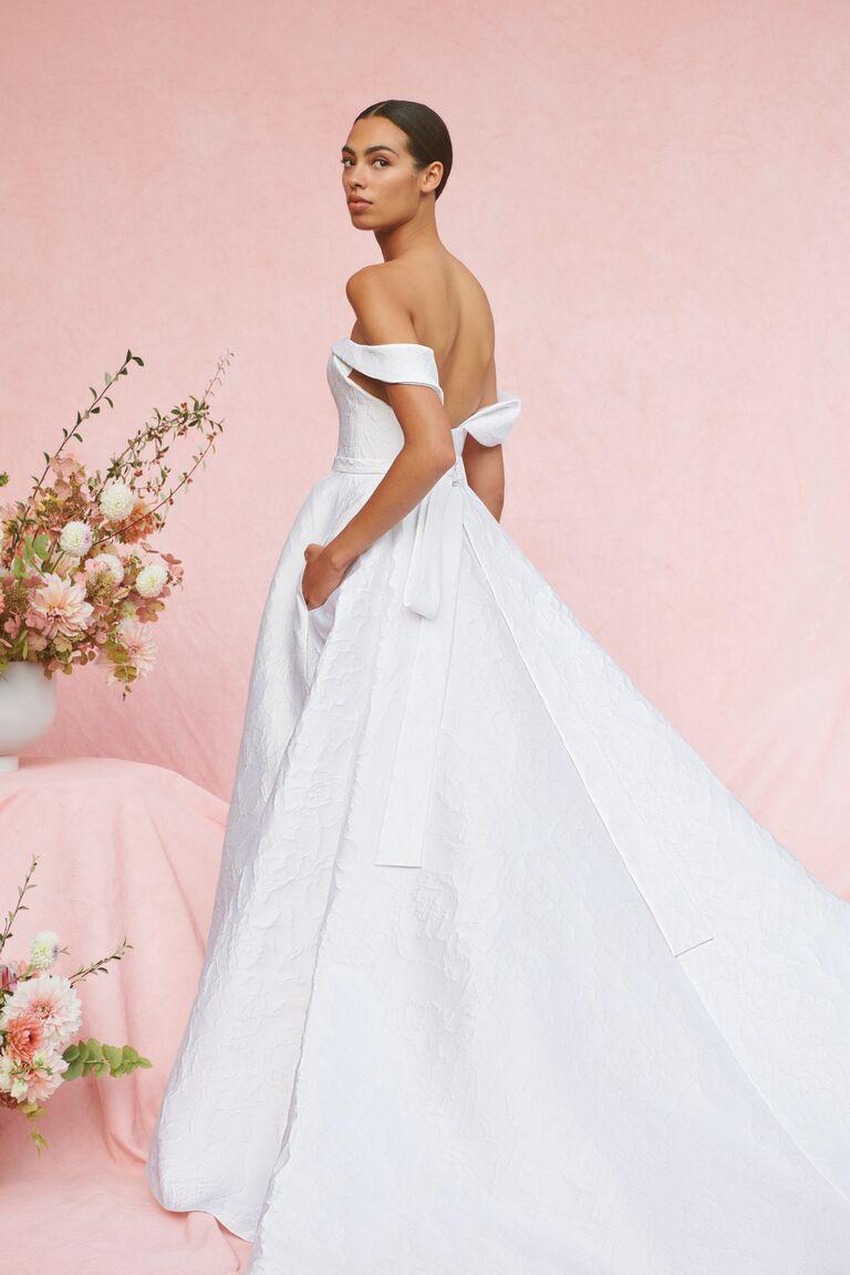 Carolina Herrera Marabelle off-the-shoulder ball gown wedding dress