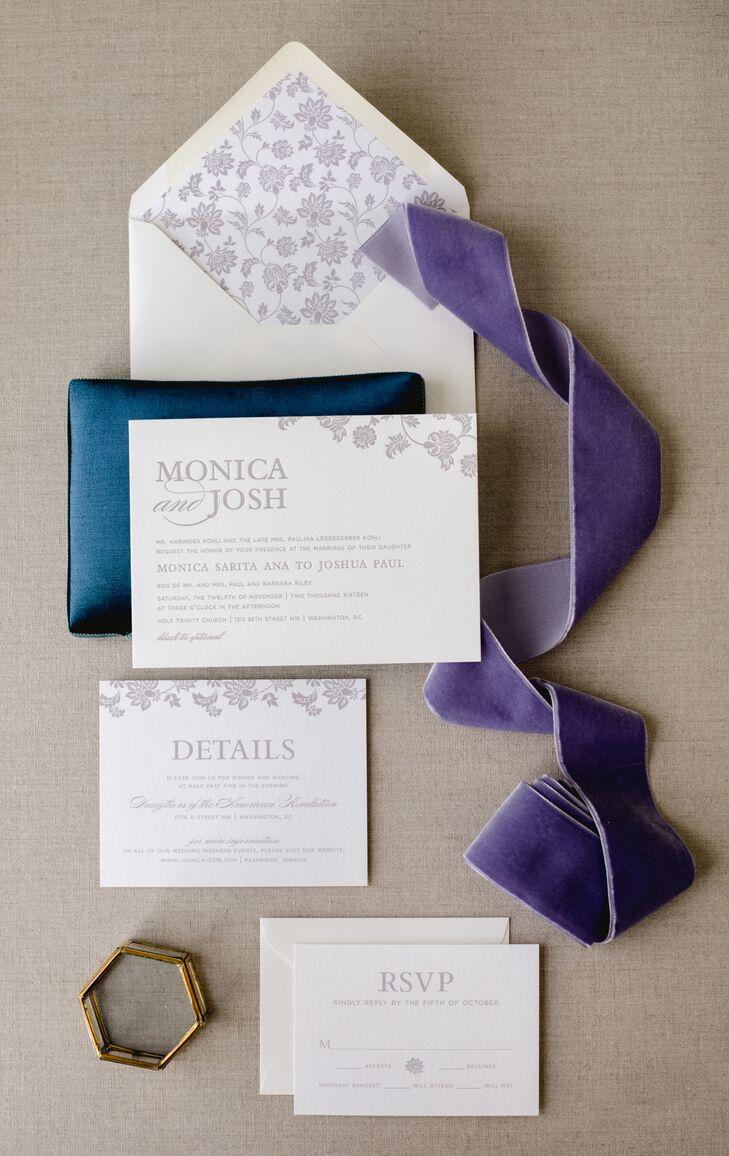 Sophisticated Lavender Wedding Invitations