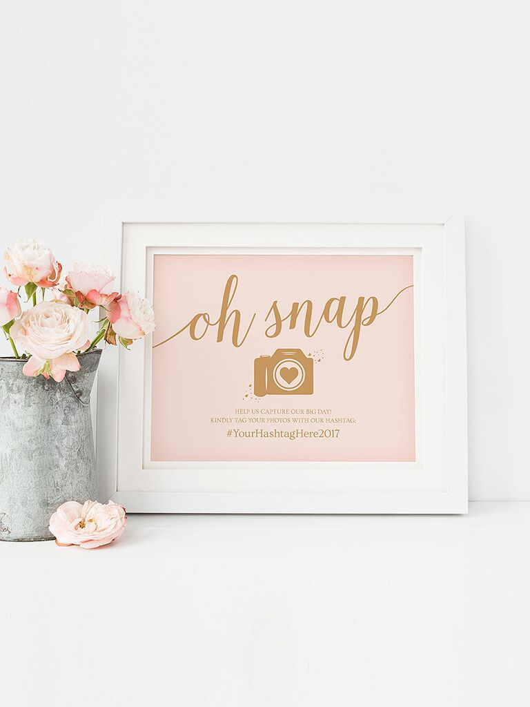 Oh Snap wedding sign printable for posting Instagram photos