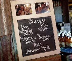 DIY Chalkboard Signature Cocktail Display Board
