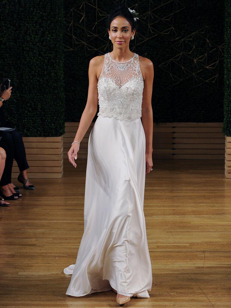 Maggie Sottero Spring 2018 high neck A-line wedding dress