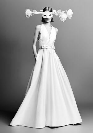 Viktor&Rolf Mariage WATTEAU TRAIN A-LINE FLOWER APPLIQUÉ Ball Gown Wedding Dress