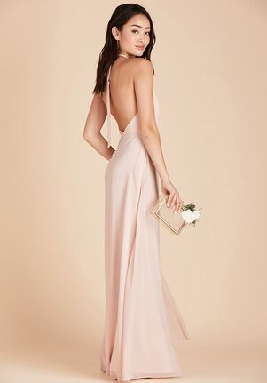 Birdy Grey Moni Convertible Dress in Pale Blush Halter Bridesmaid Dress