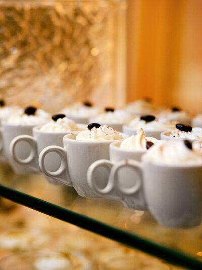 Coffee desserts for a fun wedding reception idea