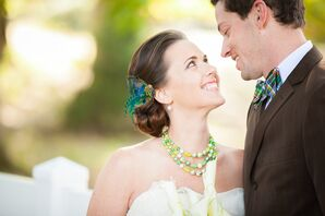 Brittany's Playful Emerald Wedding Accessories