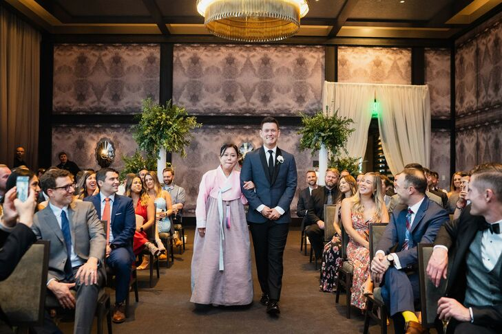 Ballroom Ceremony Processional at the Hotel Van Zandt in Austin, Texas