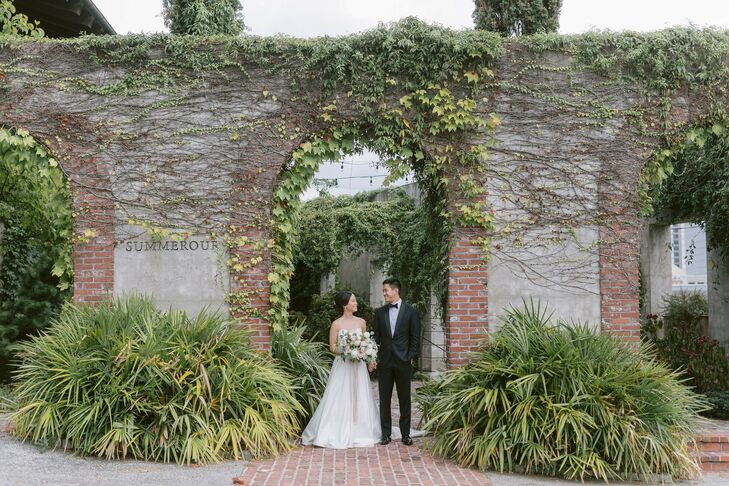 Allene and Andy's wedding in Atlanta featured two ceremonies. The couple first celebrated with close family in a traditional Chinese tea ceremony befo