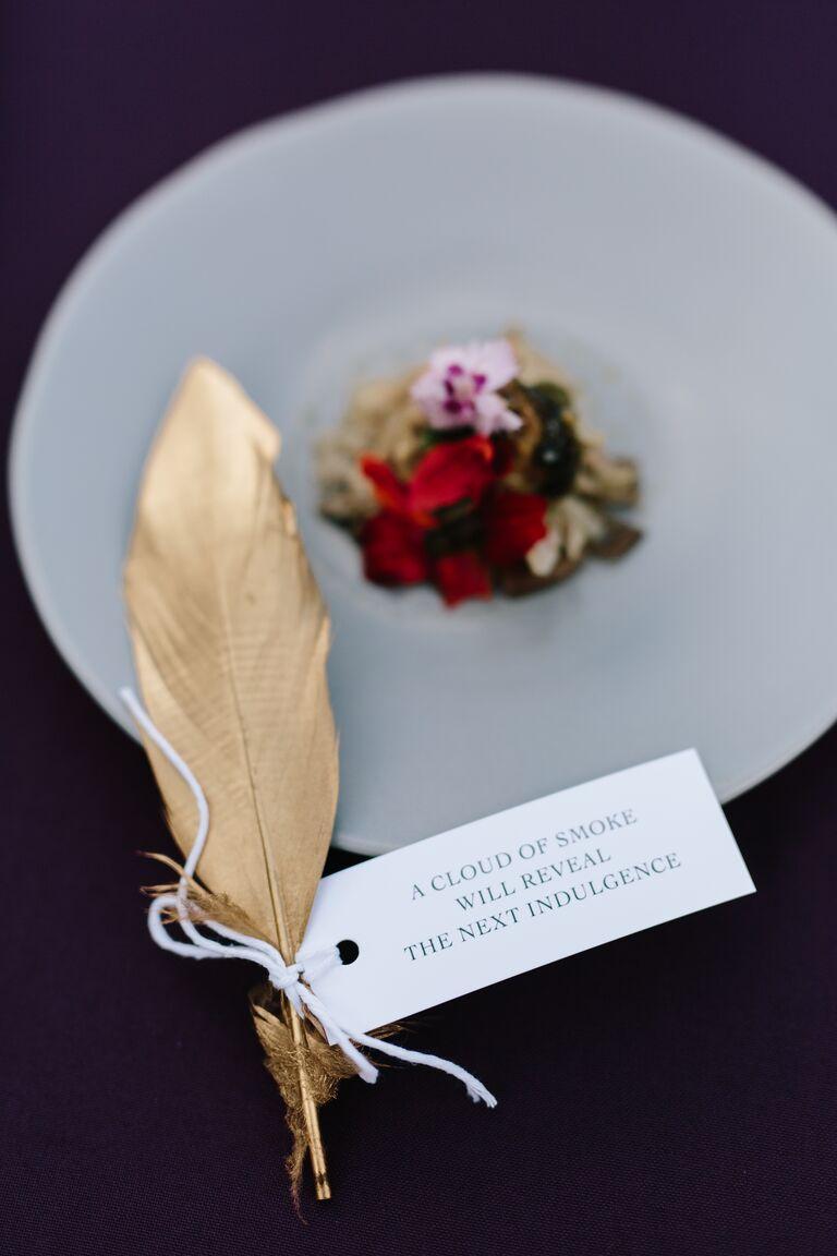 microwedding catering menu