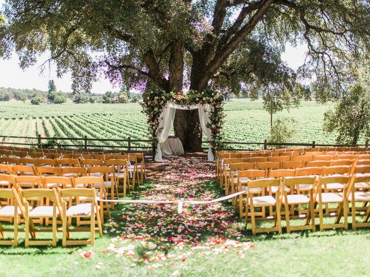Rustic Outdoor Ceremony at Vineyard