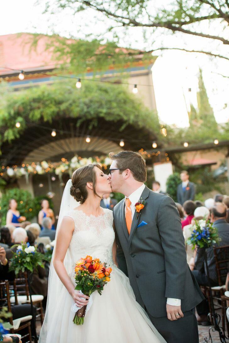 Kathleen and Matt Recessional at Stillwell House and Garden
