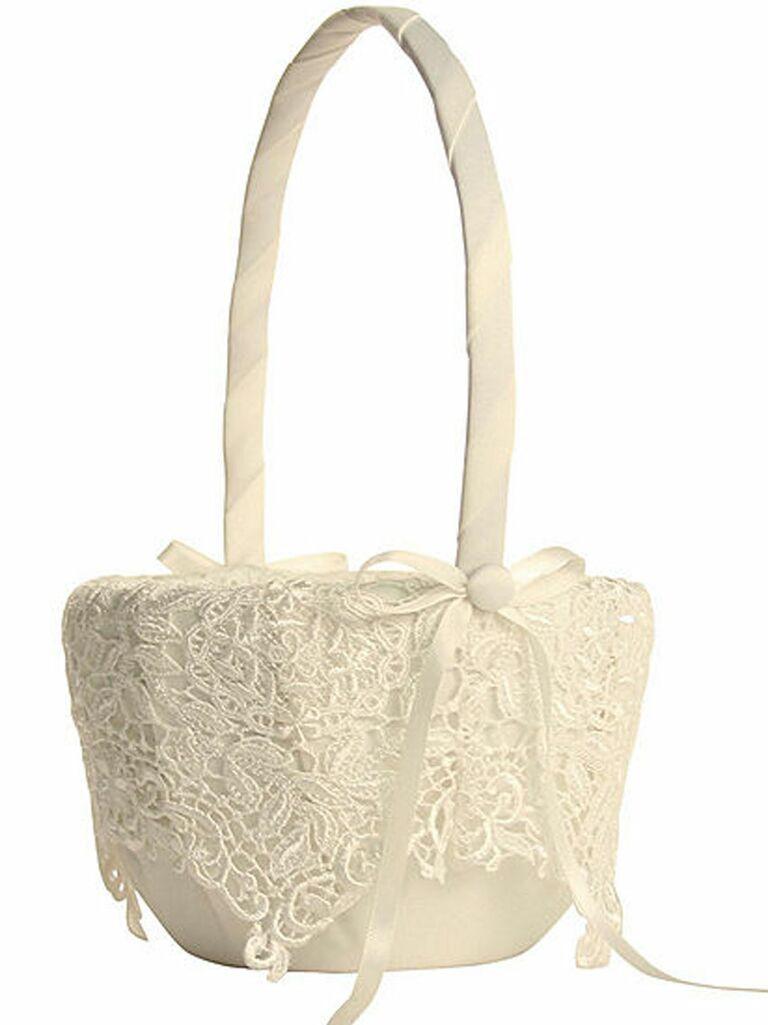 31 adorable flower girl baskets vintage lace flower girl basket izmirmasajfo