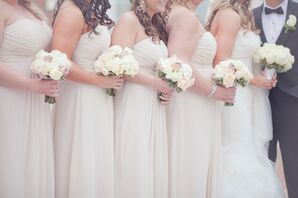 Floor-Length Champagne Bridesmaid Dresses