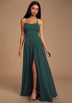 Lulus Dreamy Romance Forest Green Backless Maxi Dress Bridesmaid Dress