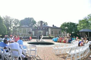 Newton White Mansion Courtyard Ceremony
