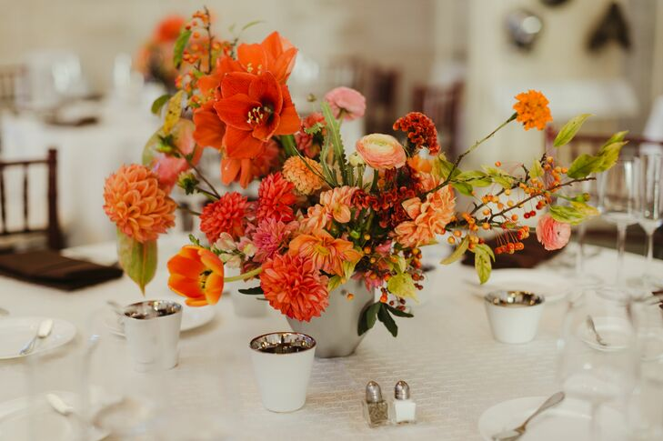 Array of Orange Blooms on Tablescapes