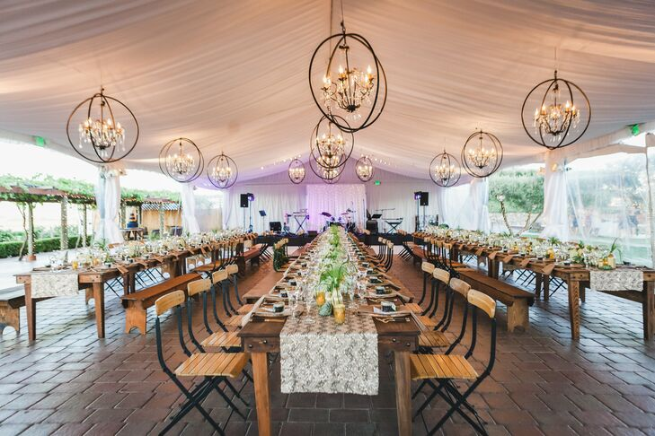 Tented Wedding Reception at Viansa Vineyard