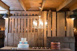 Bride and Groom Cake Table Display
