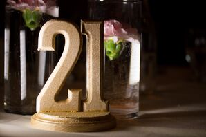 Gold Glamorous Table Number