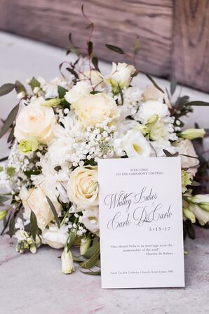 All-White Floral Centerpiece