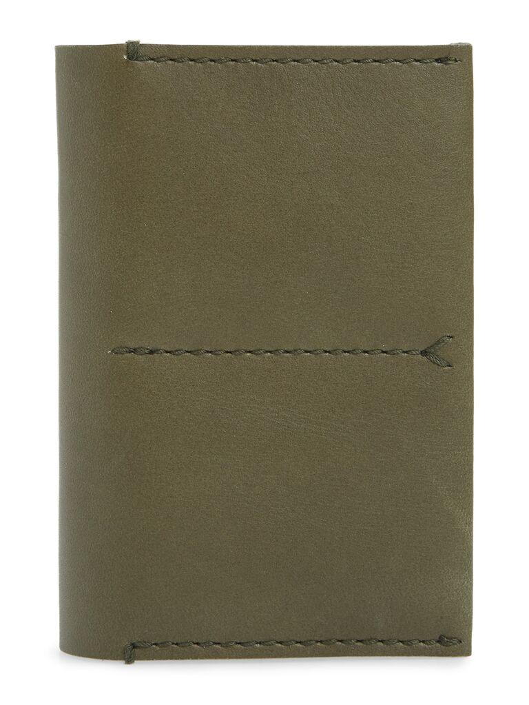 Leather passport cover 5 year anniversary gift