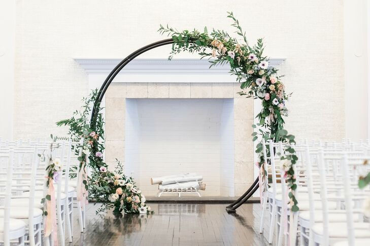 Ceremony Arch at Military Wedding at Belle Mer in Newport, Rhode Island