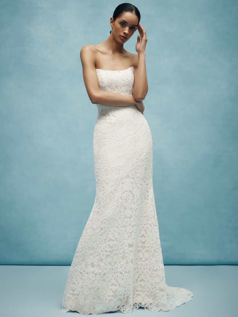 Anne Barge Spring 2020 Bridal Collection strapless scoop-neck wedding dress