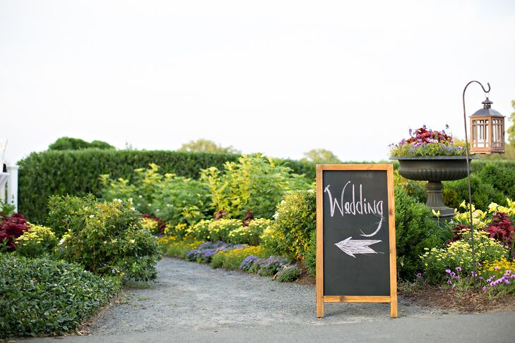 Chalkboard Wedding Direction Sign