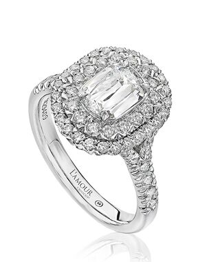 Christopher Designs Elegant Emerald, Oval Cut Engagement Ring