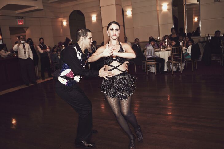 Professional salsa dancers performed for guests and even taught them a few moves after their performance!