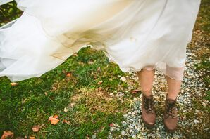 Rustic Suede Bridal Boots