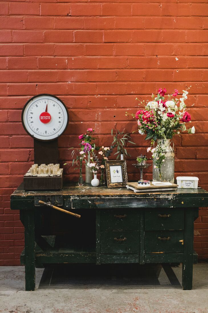 Rustic, Vintage Welcome Table