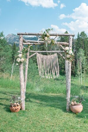 Tree Branch and Macramé Wedding Arch