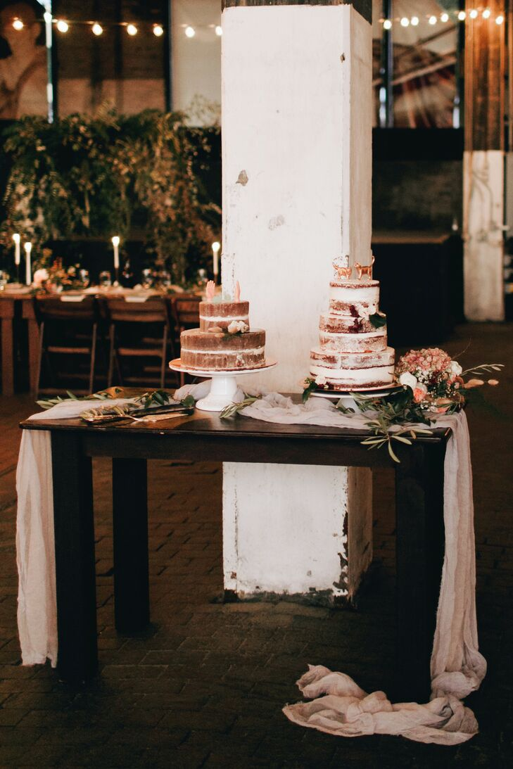 Rustic Tiered Naked Cakes