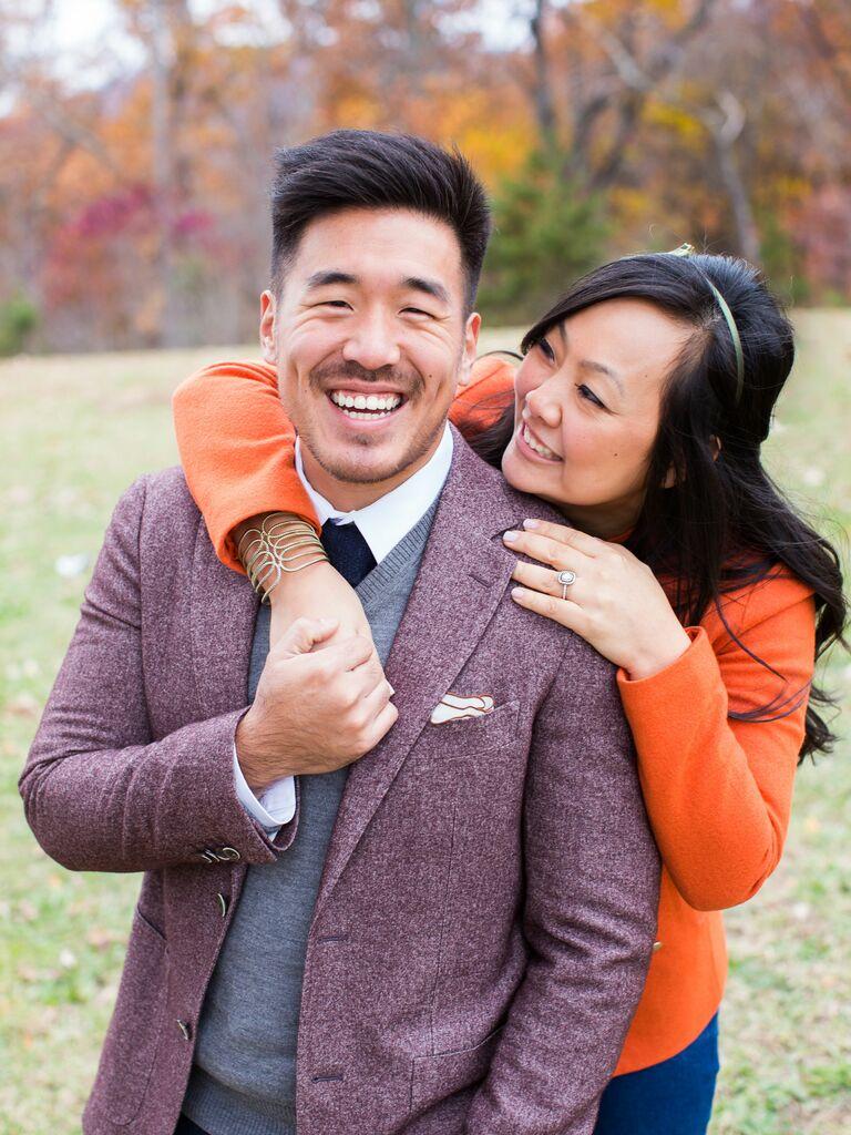 colorado fall engagement photos